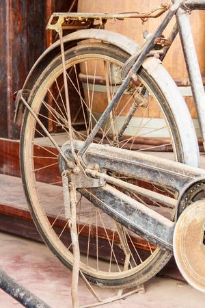 Old bike against Stock Photo