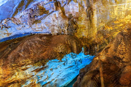 rock formation: Rock formation inside a cave Stock Photo