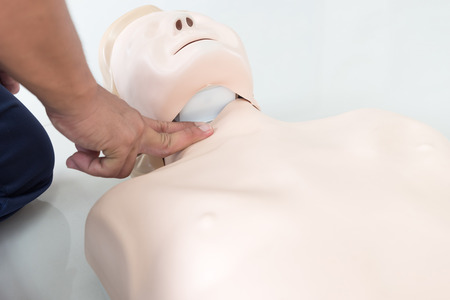cpr training Stock Photo