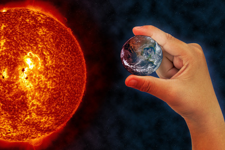 global warming with sun photo