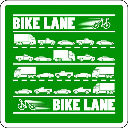 cycle suit: Bike Lane Traffic Jam vector illustration