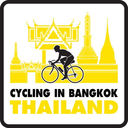 Cycling in Bangkok Thailand  Vector