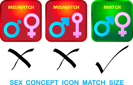 Sexual concept icon match size vector Vector