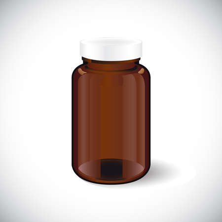cough syrup: illustration of glass empty  bottle