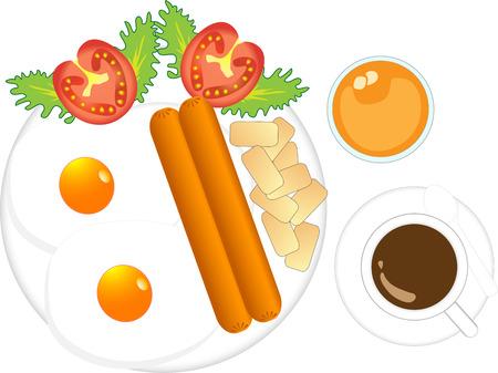 koriander: Illustration  of  morning  breakfast  vector white background