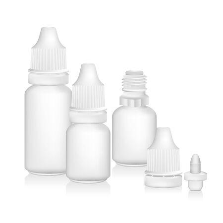 Eye dropper bottle isolate on white background