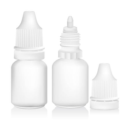 Eye dropper bottle isolate on white background