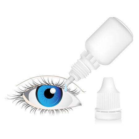 Illustratie van Eye dropper fles geïsoleerd op witte achtergrond