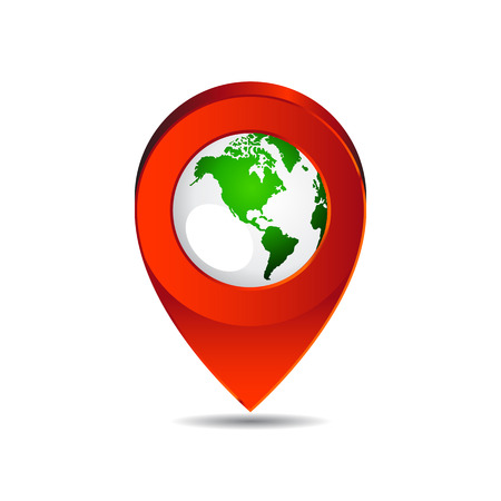 Map pin pointer icon earth  North America  vector  Vector