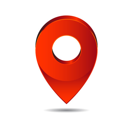 map pin: Map pin pointer icon location symbol vector.