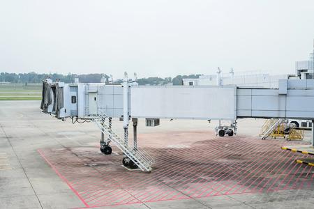 Jet bridge from an airport terminal gate at Singapore. photo