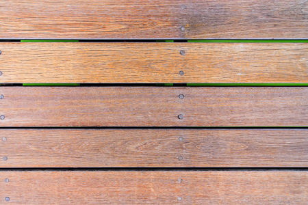 old wood floor: Old plank wood bridge floor.
