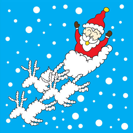 santa clause with snow background for Christmass Day vector. Vector