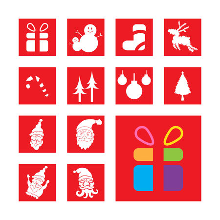 set of christmas signs and symbols vector Vector