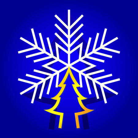 Illustration  abstract Christmas tree for Christmas and New Year vector. Vector