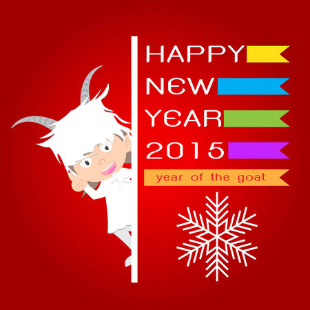 Chinese New Year of the Goat 2015, happy new year vector Vector
