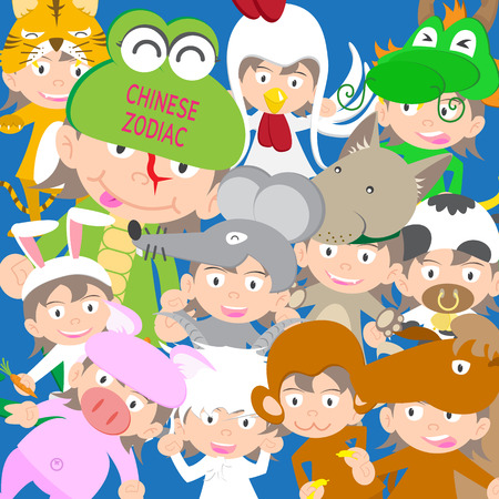 snake year: Chinese zodiac animal kid doll, year of the snake vector illustration new year