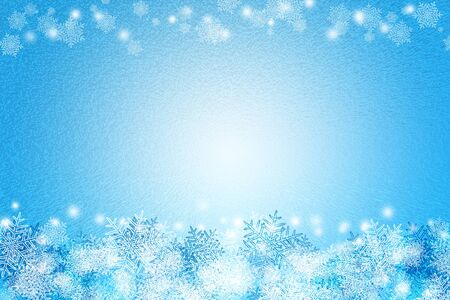 freeze: abstract snow freeze blue and white color background texture for advertisement.