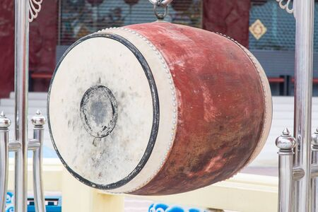 chinese drum: Chinese drum in chinese temple, music instrument