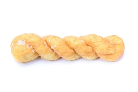 twists: breads twists donut, isolated on white background Stock Photo