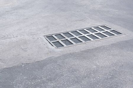 grate: Steel Sewer Cover or Manhole cover, sewer grate on the floor
