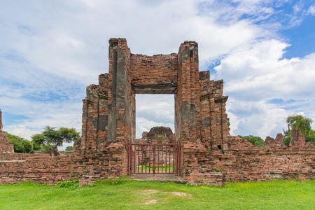 phra nakhon si ayutthaya: Wat Mahathat temple, Ayutthaya Historical Park, Phra Nakhon Si Ayutthaya, Ayutthaya ,THAILAND. Ancient city.