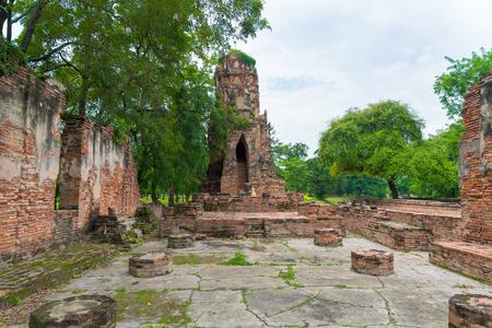 Wat Mahathat temple, Ayutthaya Historical Park, Phra Nakhon Si Ayutthaya, Ayutthaya ,THAILAND. Ancient city.