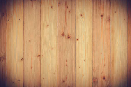 Brown wood texture with natural striped pattern for background, wooden surface for add text or design decoration art work, vintage tone with vignetting. Stock Photo
