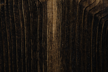 Close up of dark brown wood texture with natural striped pattern for background, wooden surface for add text or design decoration art work