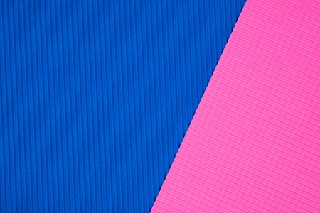 Blue and pink corrugated paper texture, use for background. vivid colour with copy space for add text or object.