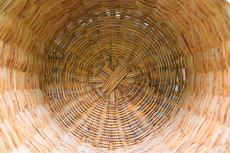 Abstract Bottom of wicker basket background. Imagens