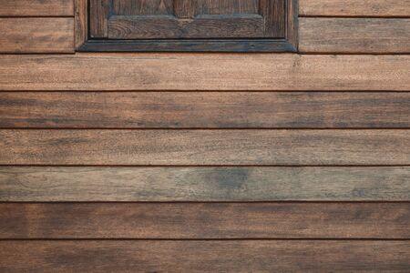 Old grunge wood simple window  in vintage with vignetting.