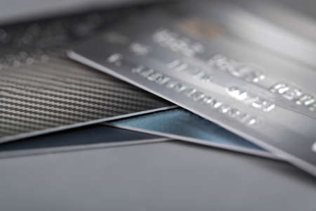 Credit cards on the table. shallow focus and soft tone, business concept.