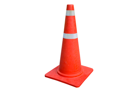 traffic cone white background