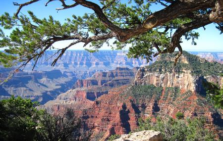 アリゾナ州のグランドキャニオンの北の縁からの眺め。 写真素材