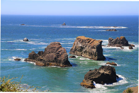 Rocky section of the northern California coastline