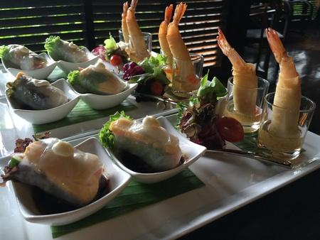 shrimp cocktail: Shrimp cocktail, the old Thai snack