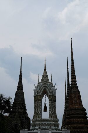 wat pho: The Bell Tower of Wat Pho. Stock Photo