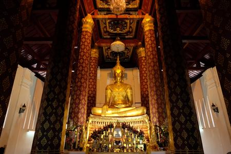 subduing: Subduing Mara Buddha image of Wat Nah Phramen, Ayutthaya, Thailand. Horizon