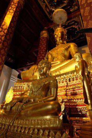 subduing: Subduing Mara Buddha image of Wat Nah Phramen, Ayutthaya, Thailand. Off Focus 1 Stock Photo