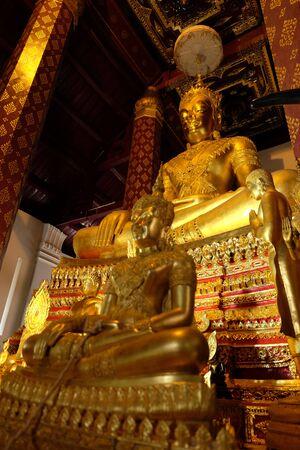 subduing: Subduing Mara Buddha image of Wat Nah Phramen, Ayutthaya, Thailand. Off Focus 2 Stock Photo
