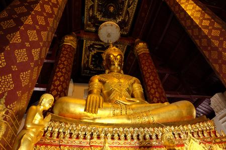 subduing: Subduing Mara Buddha image of Wat Nah Phramen, Ayutthaya, Thailand. Oblique 2