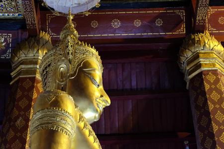 subduing: Subduing Mara Buddha image of Wat NahPhramen, Ayutthaya, Thailand. Lateral 3 Editorial
