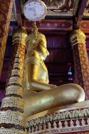 subduing: Subduing Mara Buddha image of Wat Nah Phramen, Ayutthaya, Thailand.Lateral 2