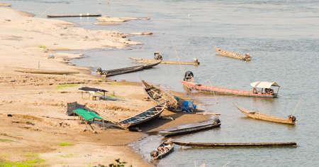kong river: Dock of kong river in ubon-ratchathani Stock Photo