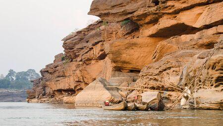 kong river: Country dock of kong river in ubon-ratchathan