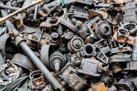 pile reuse engine: The reuse engine in thailand Stock Photo