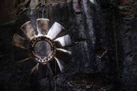 The old fan near garage