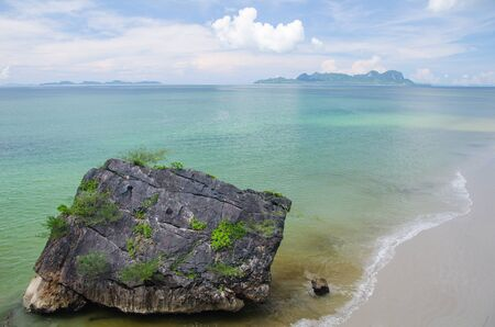 trang: Stone beach in trang province Stock Photo