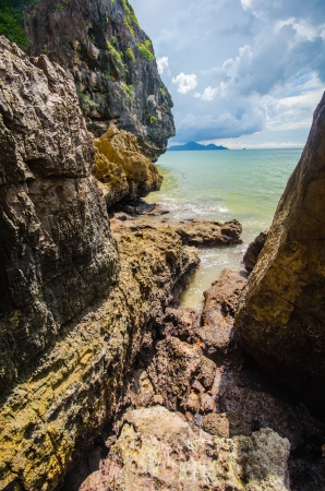 Yong ling beach in trang province Stock Photo